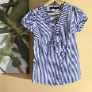 The Limited Essential Shirt blue/white striped S